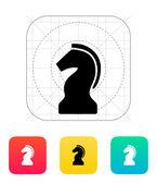 Chess Knight icon. — ストックベクタ