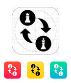 Chess castling icon. — Stock Vector