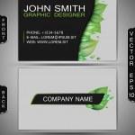 Green Eco Business Card — Stock Vector