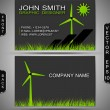 Green Energy Business Card — Stock Vector