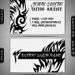 Tattoo Salon Business-Card Set — Stock Vector