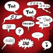 Comic Style Speech Bubbles Collection - Vettoriali Stock