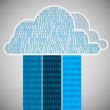 binaire cloud computing — Stockvector
