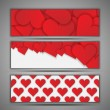 Valentine's day vector background set — Imagens vectoriais em stock