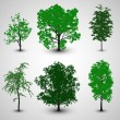 Stock Vector: Trees set