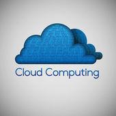 Binary cloud computing — Stock Vector