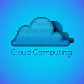 Binary cloud computing — Stock Vector
