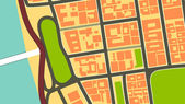 Abstract vintage city map design — Stockvector