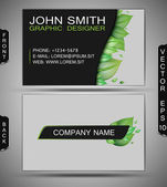 Green Eco Business Card — Stock Vector
