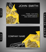 Abstract Business-Card Set — Stock Vector