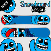Funny Snowboard Design — Stock Vector