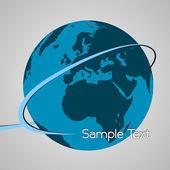 Globe with design streak — Stock Vector
