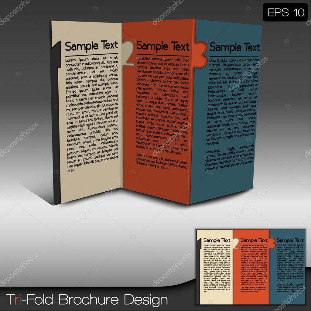 Modern Tri-Fold Brochure Design Layout — Stock Vector © Feri123 ...