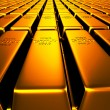 Gold Bars in Line — Stock Photo