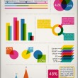 Set Elements of Infographics — Vektorgrafik