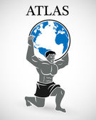 Atlas supporting the world — Stock Vector