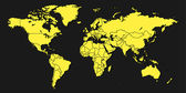 World Map — Vetorial Stock
