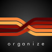 Organize — Stock Vector