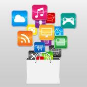 App symbols — Stock Vector
