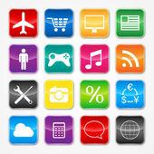 Símbolos de la aplicación — Vector de stock