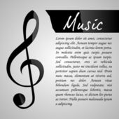 Music Design Template — Stock Vector