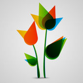 Colorful Flowers — Stockvector