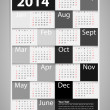 2014 Calendar Design  — Stock Vector