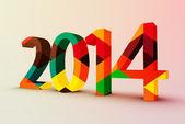 2014 achtergrond — Stockvector