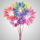Abstract Firework — Vector de stock
