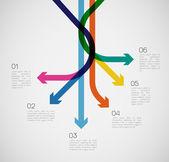 Different Way Infographics — Vettoriale Stock