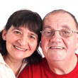 Portrait senior couples smiling — Stock Photo