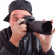 Spirited photographer to take pictures — Stock Photo #27346573