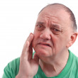 Man suffering with swollen cheek — Stock Photo