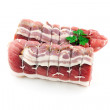 Raw rolled encased meat — Stock Photo #35906051