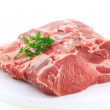 Piece raw loin of pork — Stock Photo