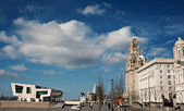 Liverpool's World Heritage status waterfront buildings — Stock Photo