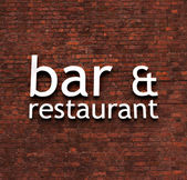 Bar and Restaurant sign — Stock Photo