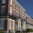Impressive British houses, grade 2 listed in Liverpool UK — Stock Photo