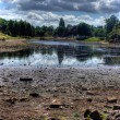 Stock Photo: HDR image of dried up park lake