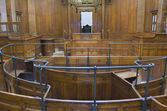Very old courtroom 1854 — Stock Photo