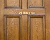 Old oak entrance door ot Grand Jury Room in Crown Court — Stock Photo