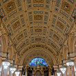 Interior of St Georges Hall, Liverpool, UK - Stock Photo