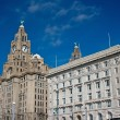 Liverpool waterfront buildings — Stock Photo