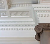 Intricate plaster cornice ceiling — Photo