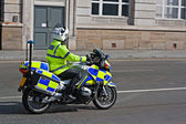 British motorcycle police — Stock Photo
