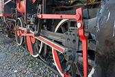 Ruote di un motore a vapore molto vecchio — Foto Stock
