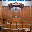 View of Crown Court room inside St Georges Hall, Liverpool, UK - Stock Photo