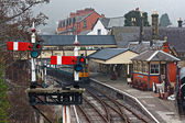 Llangollen railway station, Denbighshire, Wales, UK. — Stock Photo