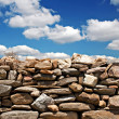 Dry stone wall on summers day — Stock Photo