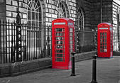 Traditional red British telephone boxs — Stock Photo